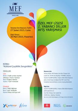2. Yabancı Diller Yarışması Posteri için tıklayınız!