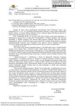 02268814 - Çevre ve Şehircilik Bakanlığı
