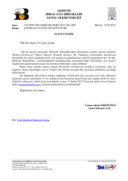 azerbaycan vize muafiyeti hk - Akdeniz İhracatçı Birlikleri