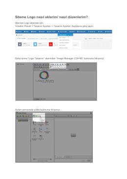Siteme Logo nasıl eklerim/ nasıl düzenlerim?