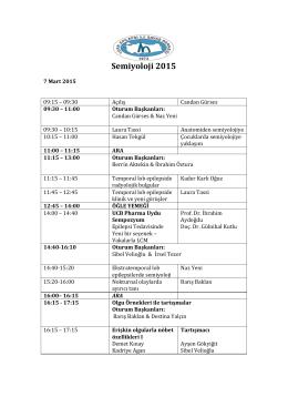 Semiyoloji 2015