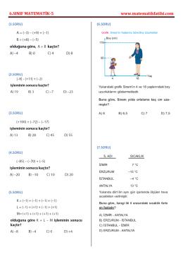 6.sınıf matematik testi-5