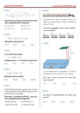 6.sınıf matematik testi-6