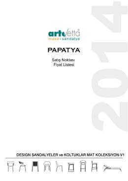 desıgn mat koleksiyon - PAPATYA