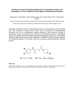 Synthesis of Novel 4-Substituted-Piperazine-1