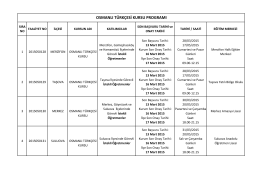 osmanlı türkçesi kursu programı