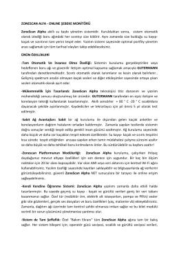 ZONESCAN ALFA - ONLINE ŞEBEKE MONİTÖRÜ ZoneScan Alpha