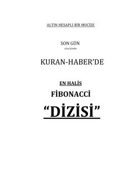 KURAN-HABER`DE FİBONACCİ