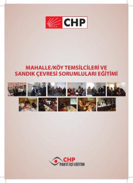 mahalle/köy temsilcileri ve sandık çevresi sorumluları eğitimi