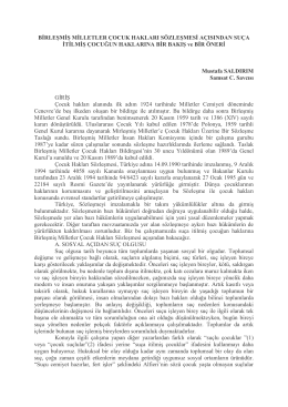 Birleşmiş Milletler Çocuk Hakları Sözleşmesi
