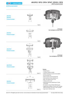 ARI-DP32 / DP33 / DP34 / DP34T / DP34Tri / DP35
