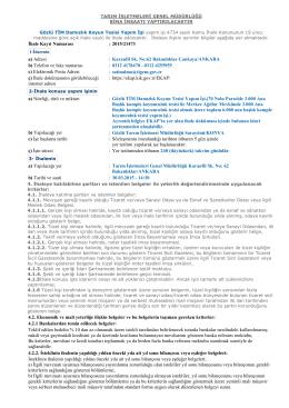 İhale Kayıt Numarası : 2015/21473 a) Adresi : Karanfil Sk