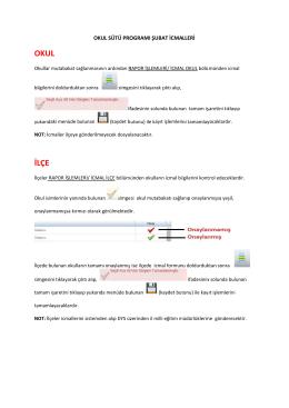 Okul Sütü Şubat Ayı İcmallerinin Onaylanması 03.03.2015 10:05