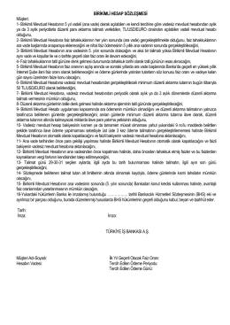 Birikimli Hesap Sözleşmesi 28.01.2015