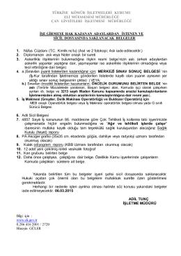 türkiye kömür işletmeleri kurumu eli müessesesi müdürlüğü çan