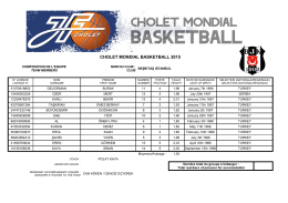 cholet mondıal basketball 2015