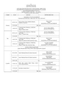 Program 2. Grup - İçişleri Bakanlığı