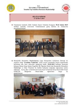 27 şubat 2015 - İstanbul Tıp Fakültesi