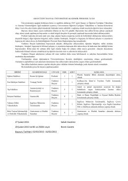 AİBU_Akademik_Personel_İlani_28 Şubat 2015
