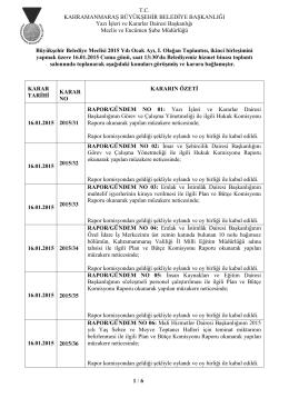 16.01.2015 Tarihli 2. Birleşimine ait karar özeti için tıklayınız