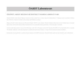 ÖABDT Laboratuvarı