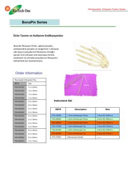 BonaPin Series Order Information