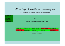 Elit-Life SmartHome - Browser arayüzü-1 -Browser