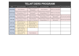 Telafi Ders Programı