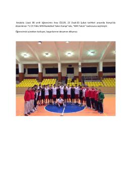 Anadolu Lisesi 9B sınıfı öğrencimiz Aras ÖZLER, 25 Ocak