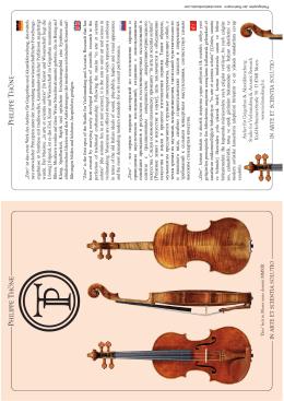 A telier für Geigenbau & Akustikforschung Studio for Violinmaking