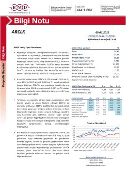 ARCLK - Bizim Menkul Değerler