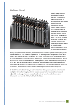 Ultra Filtrasyon Sistemleri
