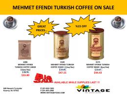 mehmet efendı turkısh coffee on sale