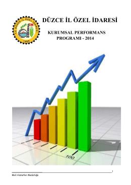 2014 Yılı Performans Planı