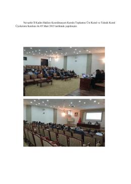 Nevşehir İl Kadın Hakları Koordinasyon Kurulu Toplantısı Üst Kurul
