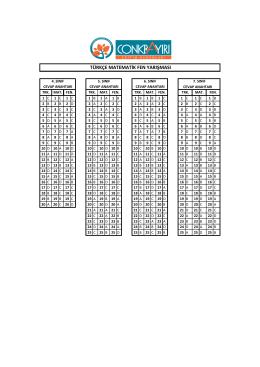 türkçe matematik fen yarışması