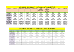 Pedagojik Formasyon Eğitimi Vize Sınav Programı (Ek grup dahil)