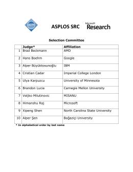 ASPLOS SRC