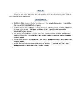 DUYURU - Borçka İlçe Milli Eğitim Müdürlüğü