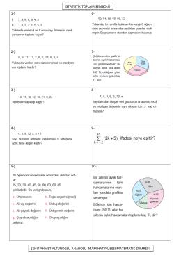 1-) 6-) 2-) 7-) 3-) 8-) 4-) 9-) 5-) 10-) istatistik-toplam sembolü