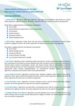 cigna finans ayrıcalıklar kulübü aile destek hizmetleri kullanım şartları