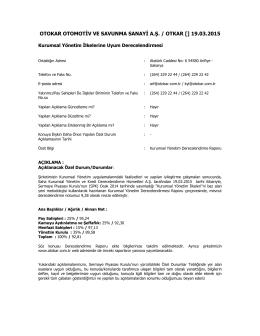 Özel Durum Açıklama Formu – 19.03.2015
