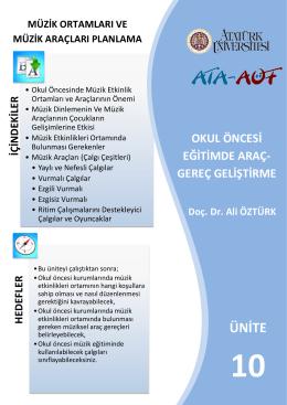 ÜNİTE - Lms - Atatürk Üniversitesi