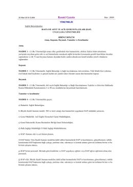 20.03.2015 tarih ve 29301 sayılı resmi gazetede yayınlanan hastane