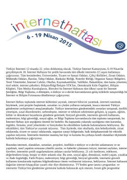 Türkiye İnterneti 12 nisanda 22. yılını doldurmuş