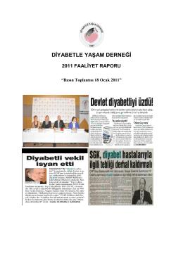 diyabetle yaşam derneği 2011 faaliyet raporu
