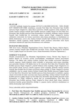 karar 295 antalya gelişim gençlik – özel idare köy hizmetleri ebbl