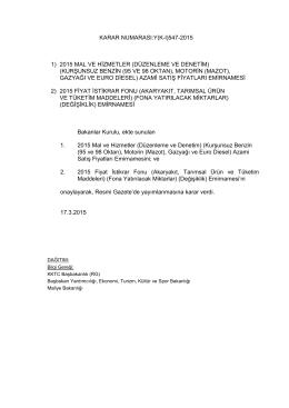 17.03.2015 - KKTC Başbakanlık
