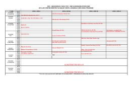 2014-2015 Eğitim-Öğretim Yılı Bahar Dönemi Ara Sınav Programı
