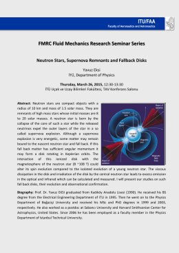FMRC Fluid Mechanics Research Seminar Series ITU/FAA